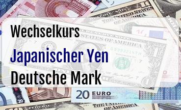 Japanischer Yen in Deutsche Mark
