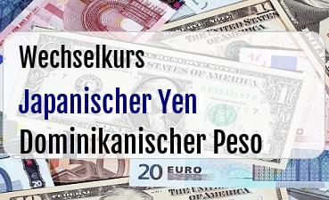 Japanischer Yen in Dominikanischer Peso