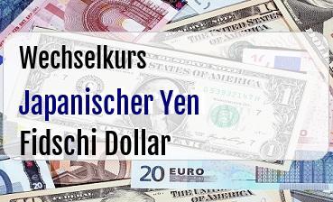 Japanischer Yen in Fidschi Dollar
