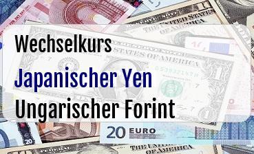 Japanischer Yen in Ungarischer Forint