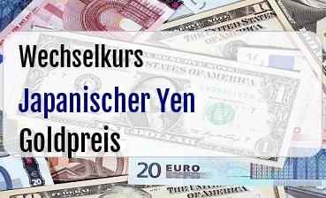 Japanischer Yen in Goldpreis