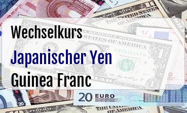 Japanischer Yen in Guinea Franc