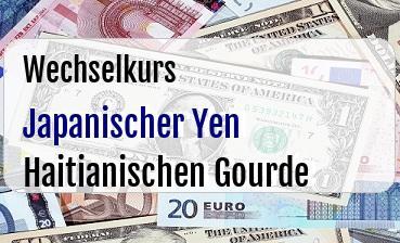 Japanischer Yen in Haitianischen Gourde