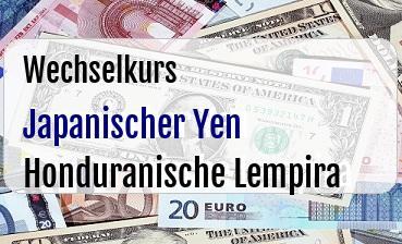 Japanischer Yen in Honduranische Lempira
