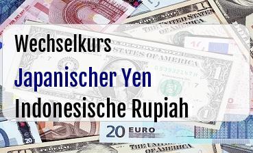 Japanischer Yen in Indonesische Rupiah