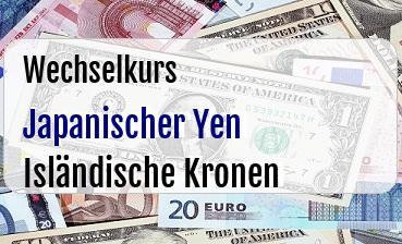 Japanischer Yen in Isländische Kronen