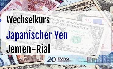 Japanischer Yen in Jemen-Rial