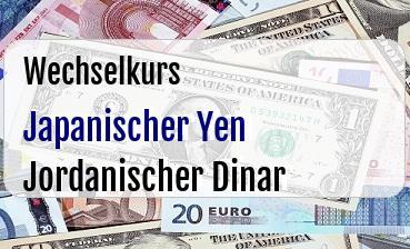Japanischer Yen in Jordanischer Dinar