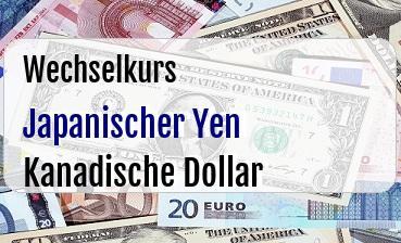 Japanischer Yen in Kanadische Dollar