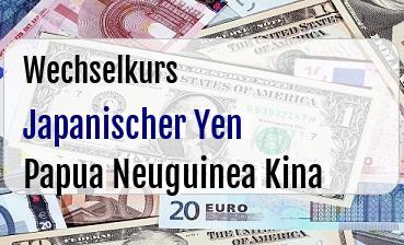 Japanischer Yen in Papua Neuguinea Kina
