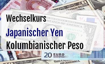 Japanischer Yen in Kolumbianischer Peso