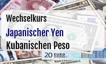 Japanischer Yen in Kubanischen Peso