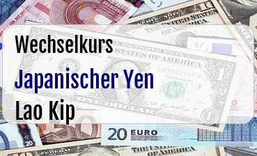 Japanischer Yen in Lao Kip