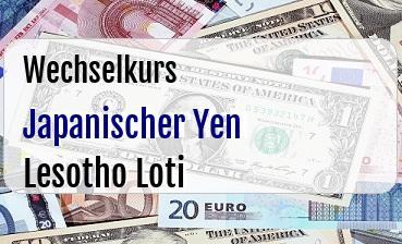 Japanischer Yen in Lesotho Loti