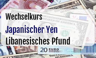 Japanischer Yen in Libanesisches Pfund