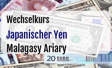 Japanischer Yen in Malagasy Ariary