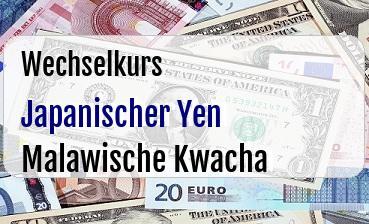 Japanischer Yen in Malawische Kwacha