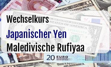 Japanischer Yen in Maledivische Rufiyaa