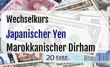 Japanischer Yen in Marokkanischer Dirham
