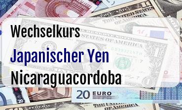 Japanischer Yen in Nicaraguacordoba