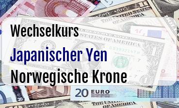 Japanischer Yen in Norwegische Krone