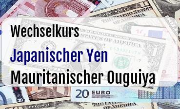 Japanischer Yen in Mauritanischer Ouguiya