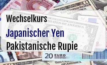 Japanischer Yen in Pakistanische Rupie
