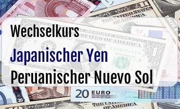 Japanischer Yen in Peruanischer Nuevo Sol