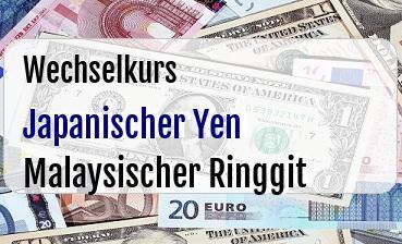 Japanischer Yen in Malaysischer Ringgit