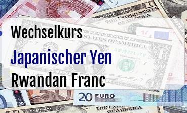 Japanischer Yen in Rwandan Franc