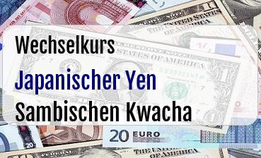 Japanischer Yen in Sambischen Kwacha