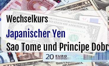Japanischer Yen in Sao Tome und Principe Dobra