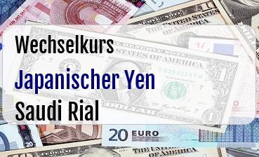 Japanischer Yen in Saudi Rial