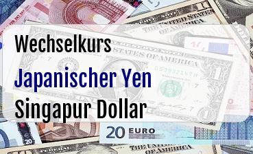 Japanischer Yen in Singapur Dollar