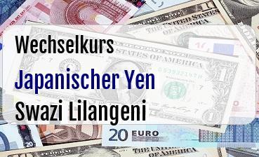 Japanischer Yen in Swazi Lilangeni