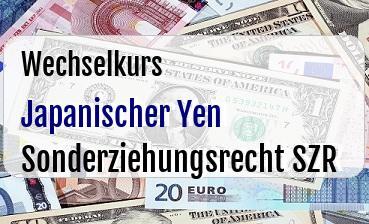 Japanischer Yen in Sonderziehungsrecht SZR