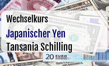 Japanischer Yen in Tansania Schilling