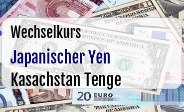 Japanischer Yen in Kasachstan Tenge