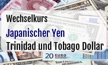 Japanischer Yen in Trinidad und Tobago Dollar