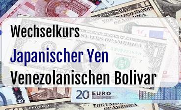 Japanischer Yen in Venezolanischen Bolivar