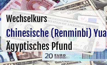 Chinesische (Renminbi) Yuan in Ägyptisches Pfund