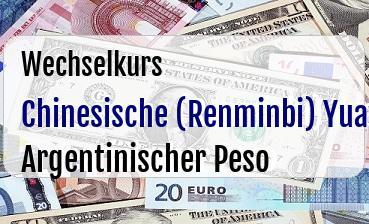 Chinesische (Renminbi) Yuan in Argentinischer Peso