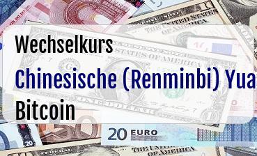 Chinesische (Renminbi) Yuan in Bitcoin
