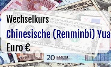 Chinesische (Renminbi) Yuan in Euro