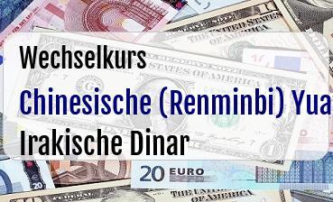 Chinesische (Renminbi) Yuan in Irakische Dinar
