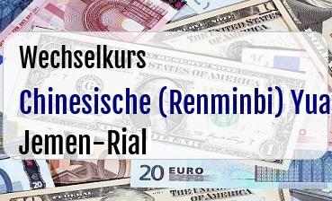Chinesische (Renminbi) Yuan in Jemen-Rial