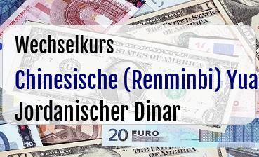 Chinesische (Renminbi) Yuan in Jordanischer Dinar