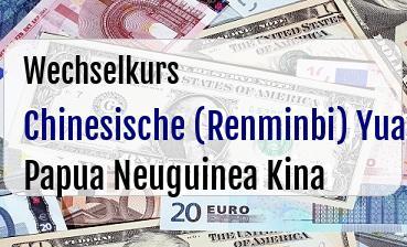 Chinesische (Renminbi) Yuan in Papua Neuguinea Kina