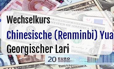 Chinesische (Renminbi) Yuan in Georgischer Lari