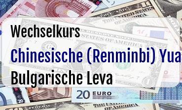 Chinesische (Renminbi) Yuan in Bulgarische Leva